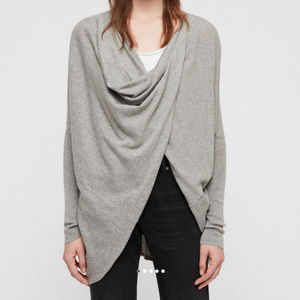 Itat Shrug Cardigan 2 in 1 All Saints Gray Sweater